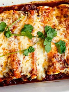 A plate of enchiladas