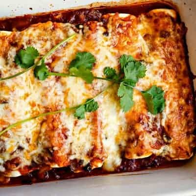 Chicken Black Bean Enchiladas