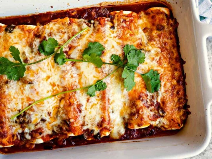 A plate of enchiladas