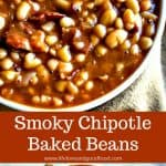 Smoky Chipotle Baked Beans have a little heat and a hint of smoke