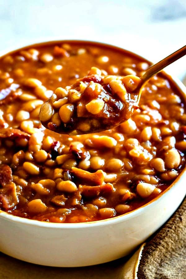 a spoonful of baked beans