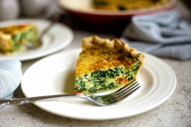 Spinach Quiche For Brunch Or Dinner Life Love And Good Food