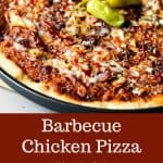 Whole BBQ Chicken Pizza with pepperoncini pepper