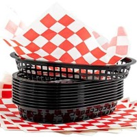 Retro Fast Food Baskets & Red Checkered Liners