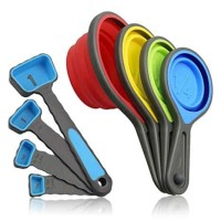 Collapsible Silicone Measuring Cups and Spoons