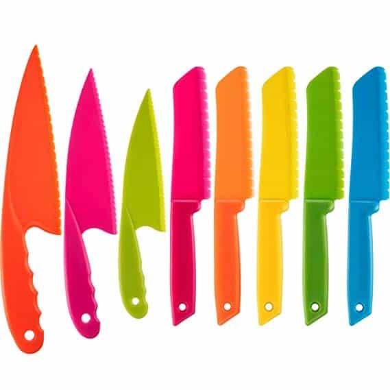 Kid Plastic Kitchen Knife Set