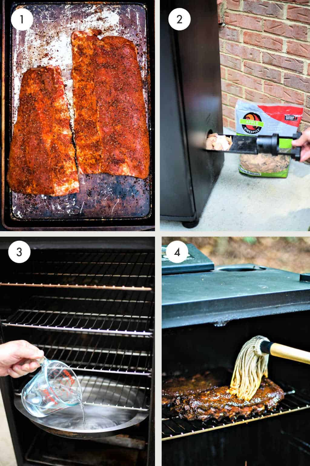 process for smoking ribs in an electric smoker