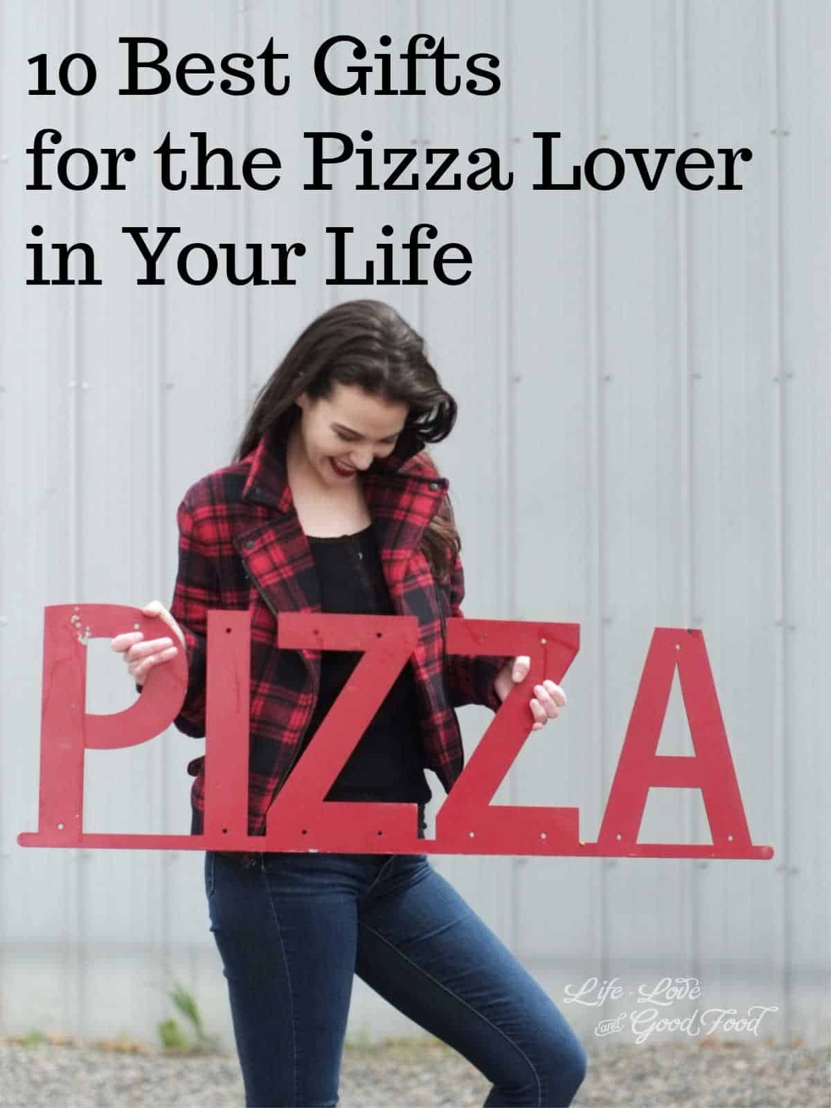 The 10 Best Gifts for Pizza Lovers is a gift guide for the pizza lover in your life who enjoys making gourmet pizza in their own kitchen. They make their own pizza dough, come up with creative pizza combinations, and love hosting pizza parties with their friends. #giftguide #pizzalover