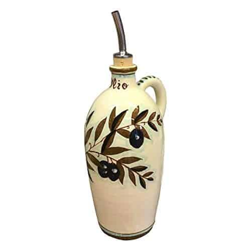 Italian Ceramic Art Pottery Oil Cruet Bottle