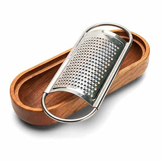 Cheese Grater with Cherry Wood Serving Bowl