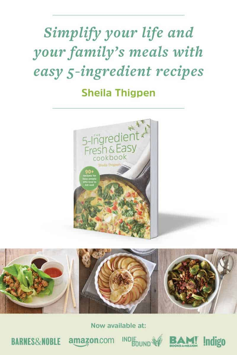 fresh and easy cookbook pin