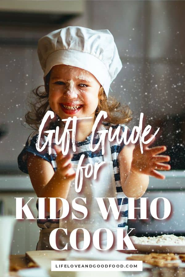The 10 Best Gifts for Kids Who Like to Cook is a gift guide for aspiring little bakers and creative kid chefs that encourage learning in the kitchen. #giftguide #giftsforkids