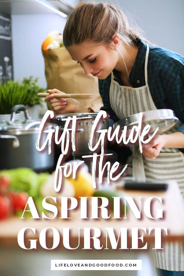 The 10 Best Gifts for the Aspiring Gourmet is a gift guide for any home chef or foodie who loves to cook and experiment with the latest and greatest kitchen gadgets and tools. #giftguide #foodiegiftguide