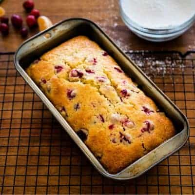Cranberry Orange Bread {with Fresh, Frozen, or Dried Cranberries}