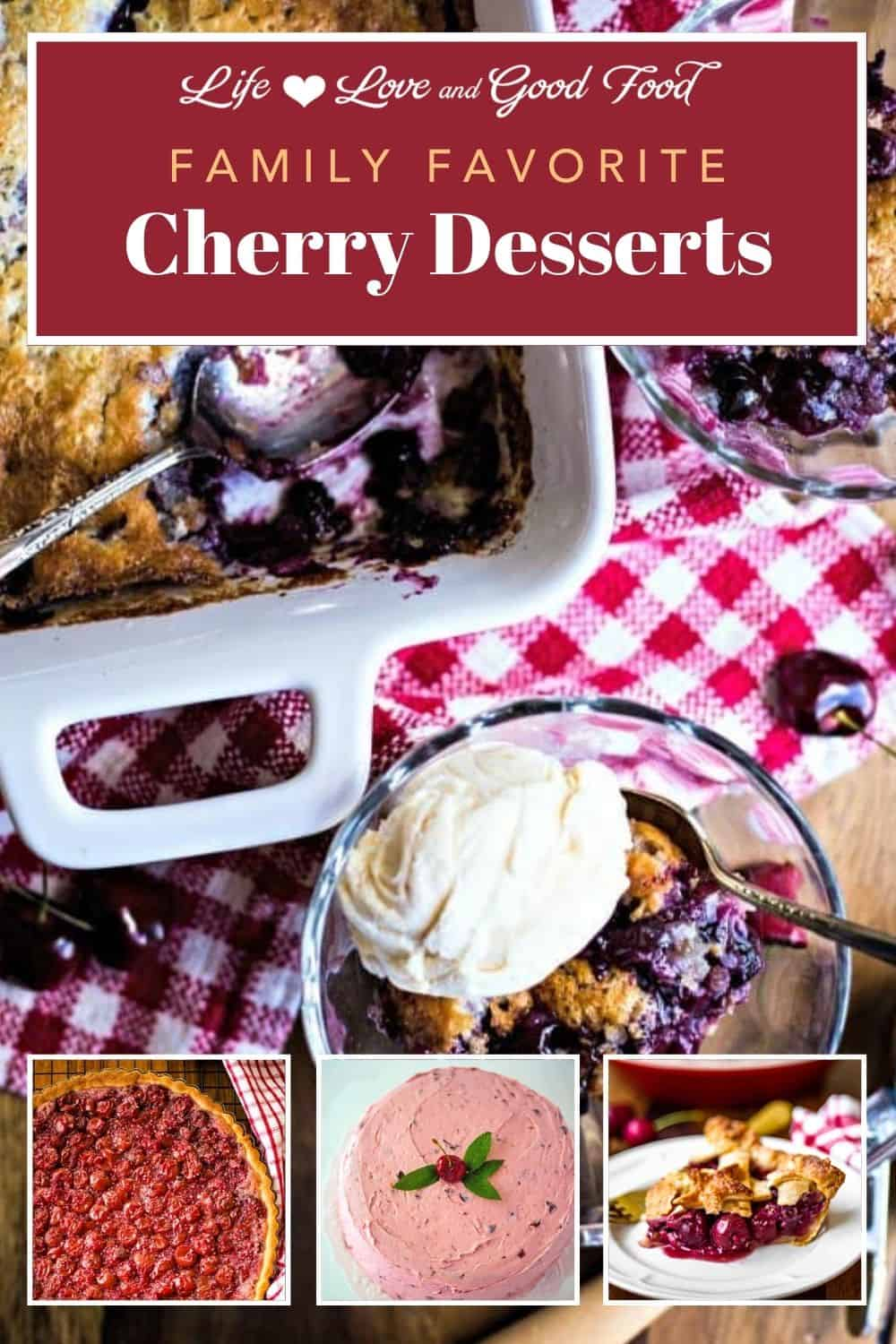 When the cherry blossoms burst in Spring, it's time to start getting excited for all the delicious Cherry Desserts to be made with fresh cherries come Summer! From fruit pies and cobblers to quick breads and cookies, sweet or tart, cherries make the best sweet Summer treats. These easy cherry dessert recipes feature fresh, frozen, canned, or dried cherries so you can enjoy baking with cherries all year long.