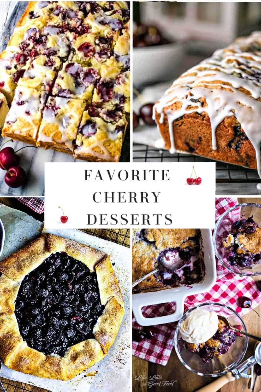 cherry dessert collage