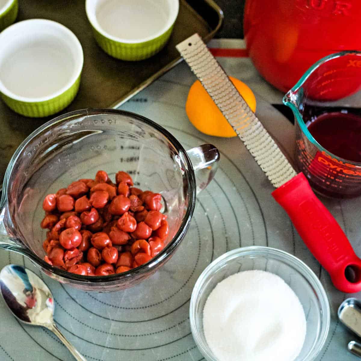 ingredients for cherry pot pies