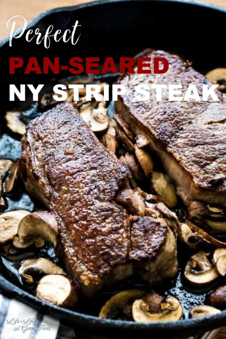 Want to know the secret to cooking steaks at home like fancy steakhouses? This recipe delivers a Perfect Pan-Seared New York Strip steak every time.#steakdinner #newyorkstrip