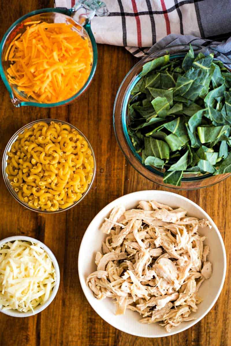 ingredients for macaroni and cheese casserole