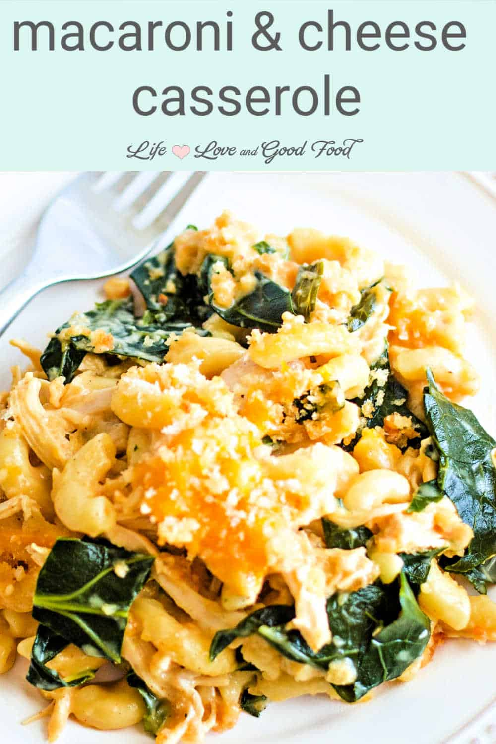 Served hot and bubbly, my Southern-style homemade Macaroni and Cheese Casserole is loaded with chunks of tender rotisserie chicken and green, leafy collard greens in a rich and creamy cheese sauce. Not your run-of-the-mill mac and cheese, this bold and delicious casserole ranks among the very BEST in comfort food.
