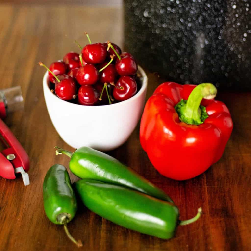 ingredients for hot cherry pepper jelly