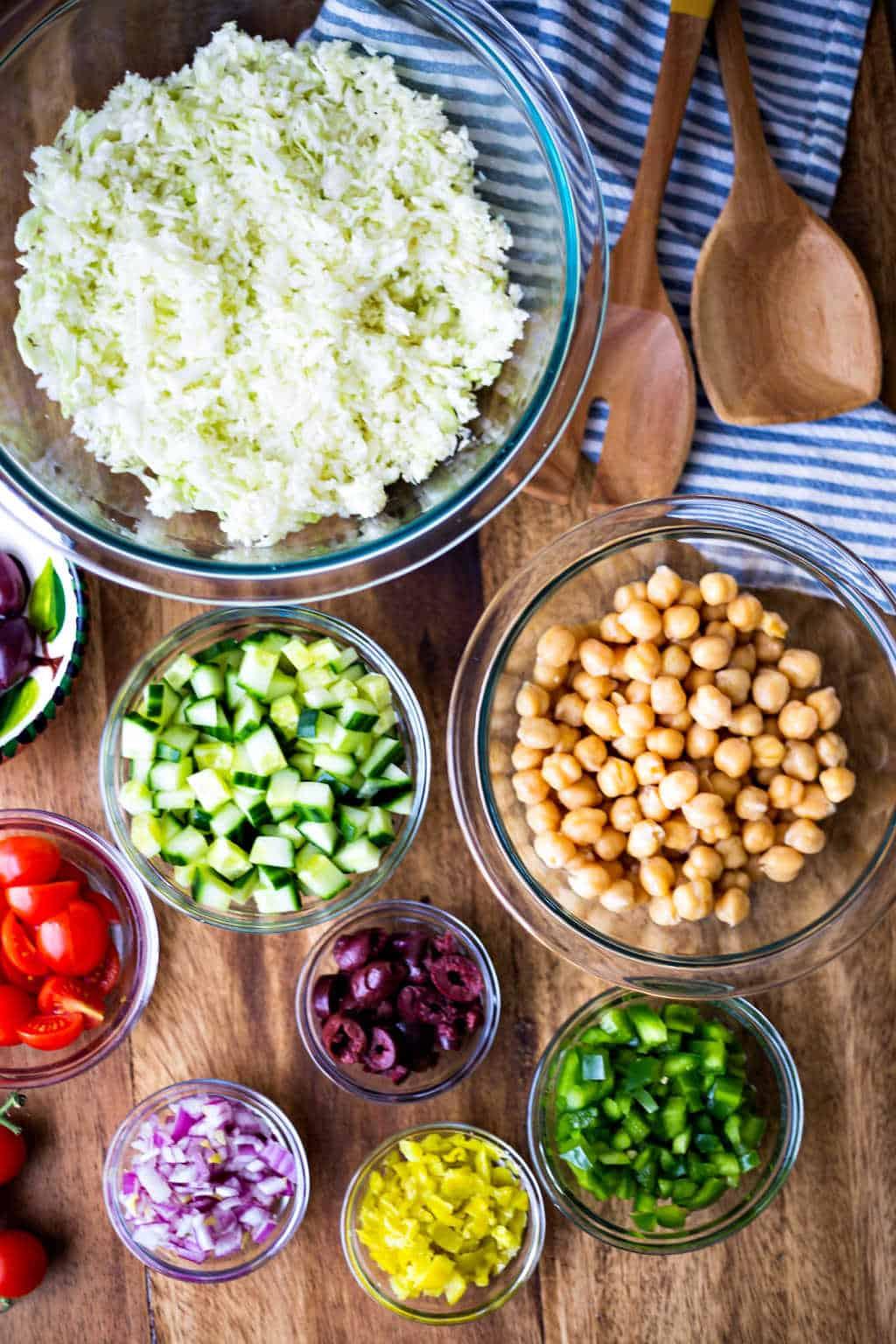 healthy greek coleslaw ingredients