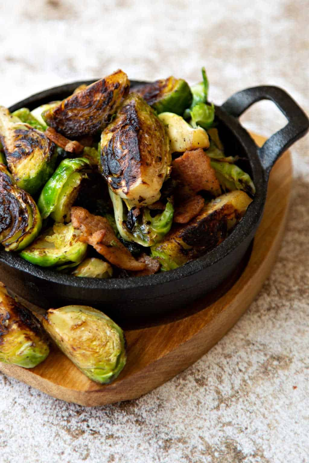 appetizer of charred brussel sprouts