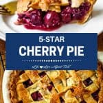 fresh cherry pie with a lattice crust