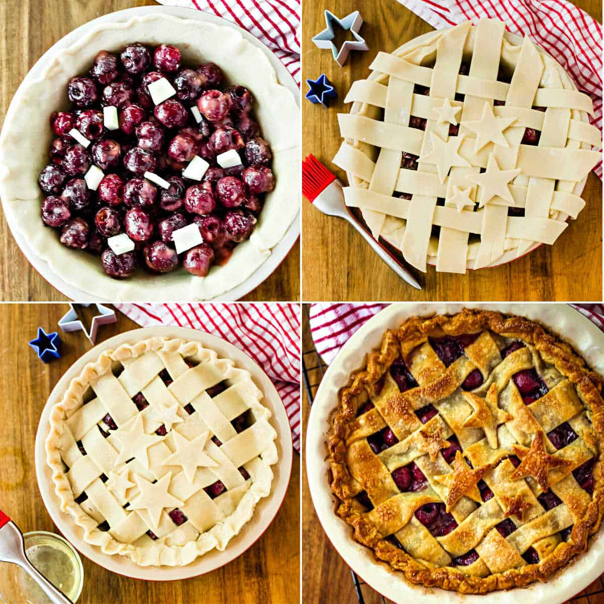 5-Star Cherry Pie preparation sequence
