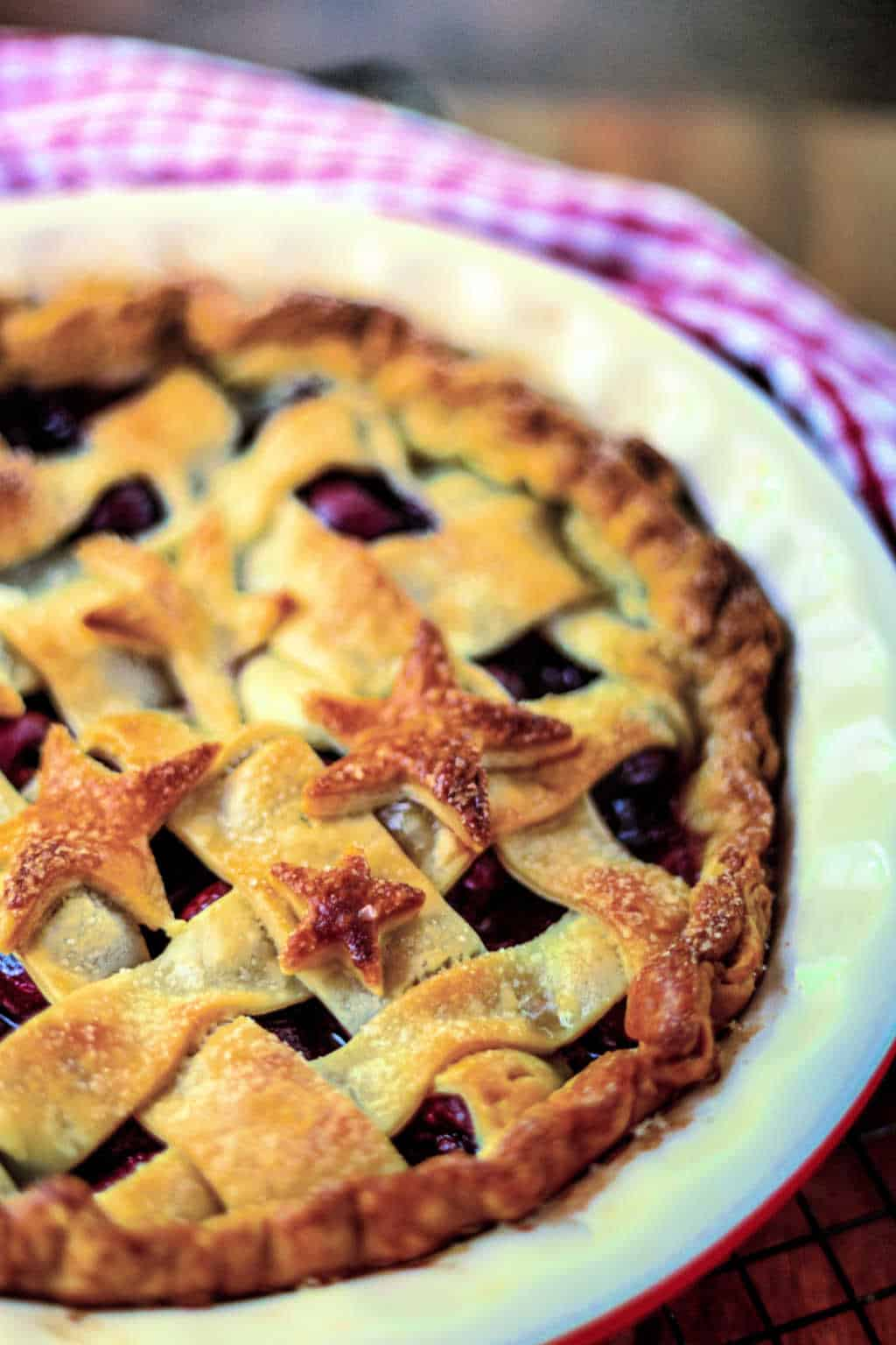 5-Star Cherry Pie with a lattice crust