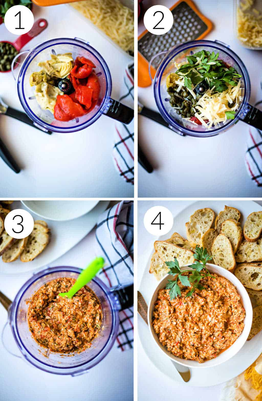process for making roasted red pepper tapenade