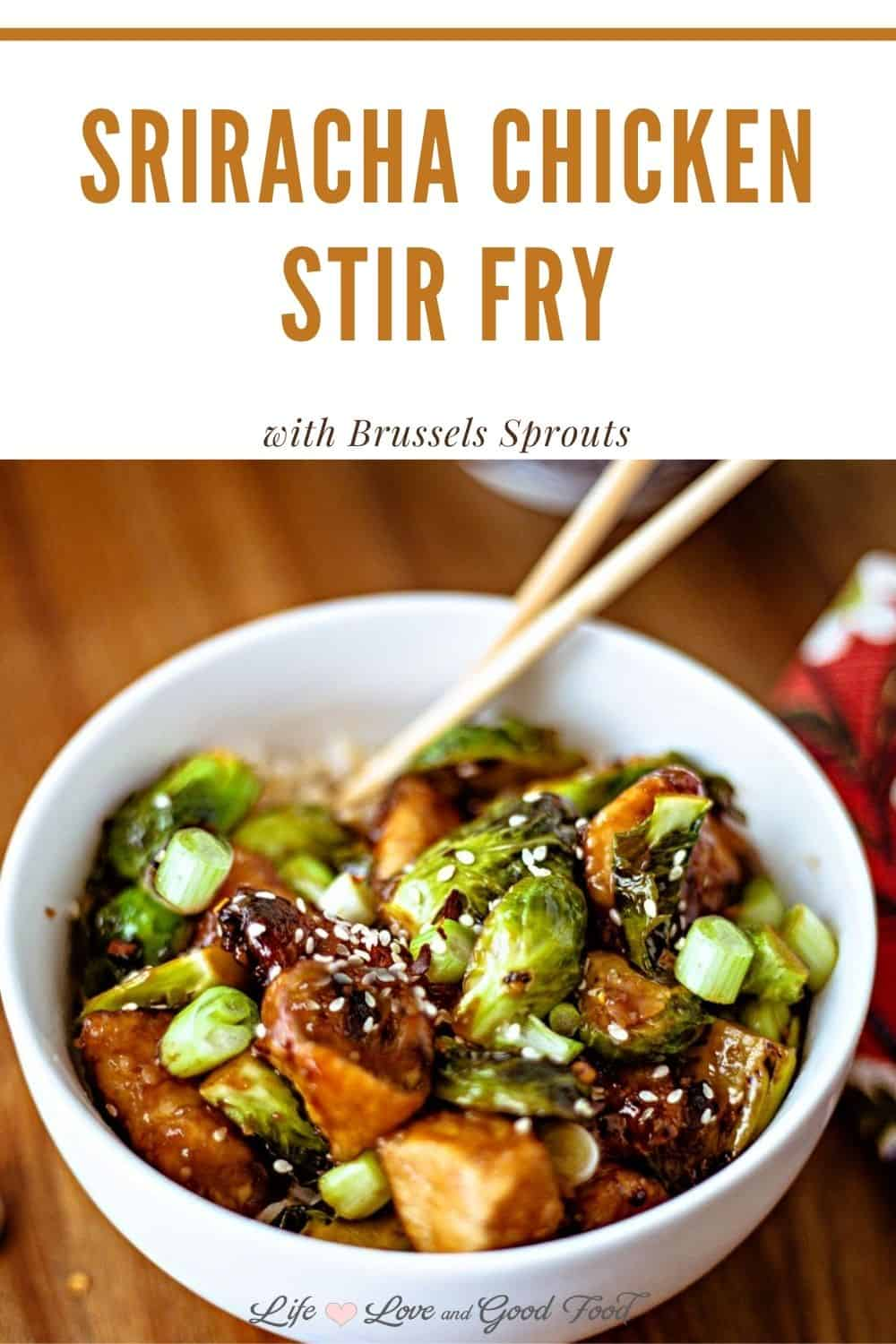 This Sriracha Chicken Stir Fry with Brussels Sprouts boasts a mouthful of flavor in every single bite. Heat up the wok to quickly cook tender chicken and caramelized Brussels sprouts in a spicy sweet honey sriracha sauce. Prep to finished meal, this dish can be on your dinner table in just 30 minutes.