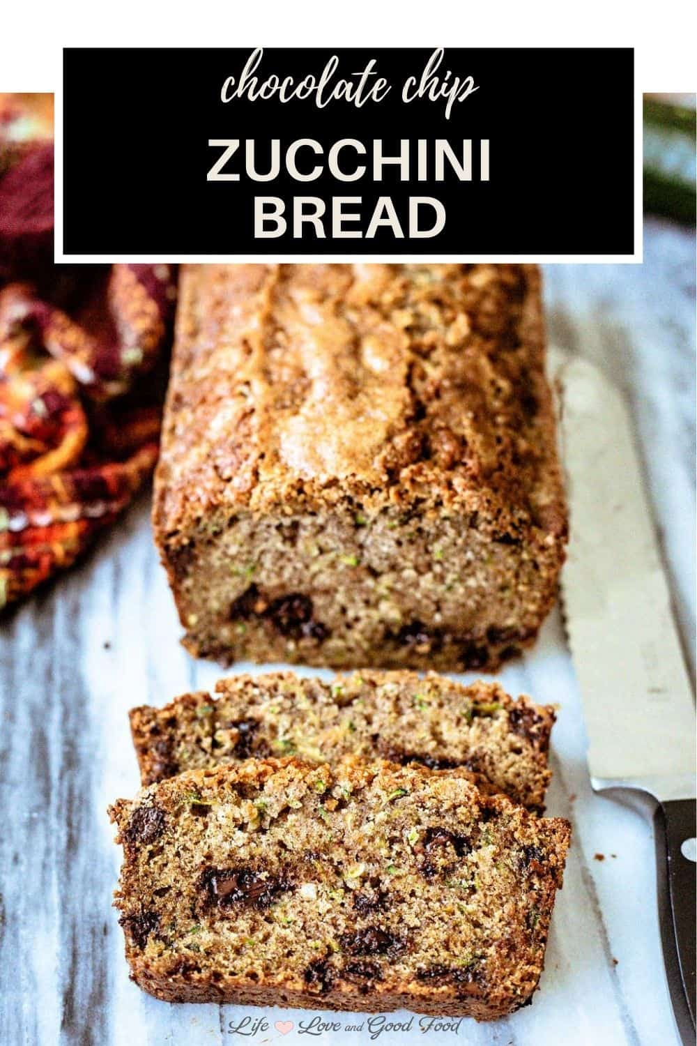 What more indulgent way to enjoy that abundance of Summer zucchini than baked up in a quick bread studded with chocolate chips? This Chocolate Chip Zucchini Bread is super moist, bakes in about 50 minutes, and tastes even better the next day.