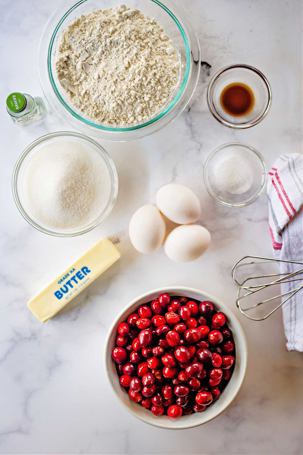 ingredients for cranberry cake