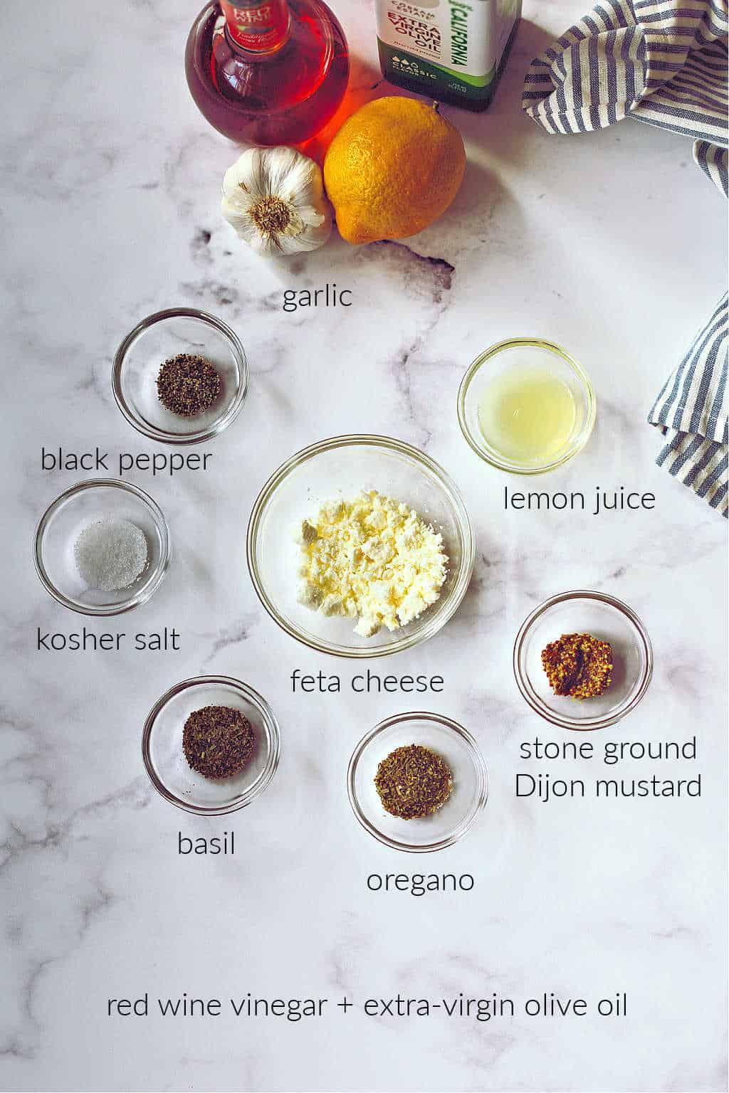 ingredients for greek salad dressing