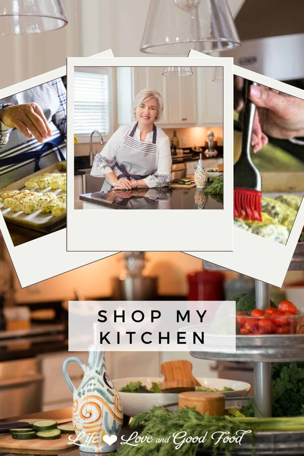 Collected all on one page, this Shop My Kitchen list includes links to my 25 favorite kitchen items. All of the products in this list are tools that I personally love and use daily in my own kitchen. Use this curated list to find gifts for your foodie friends. #giftguide #shopping