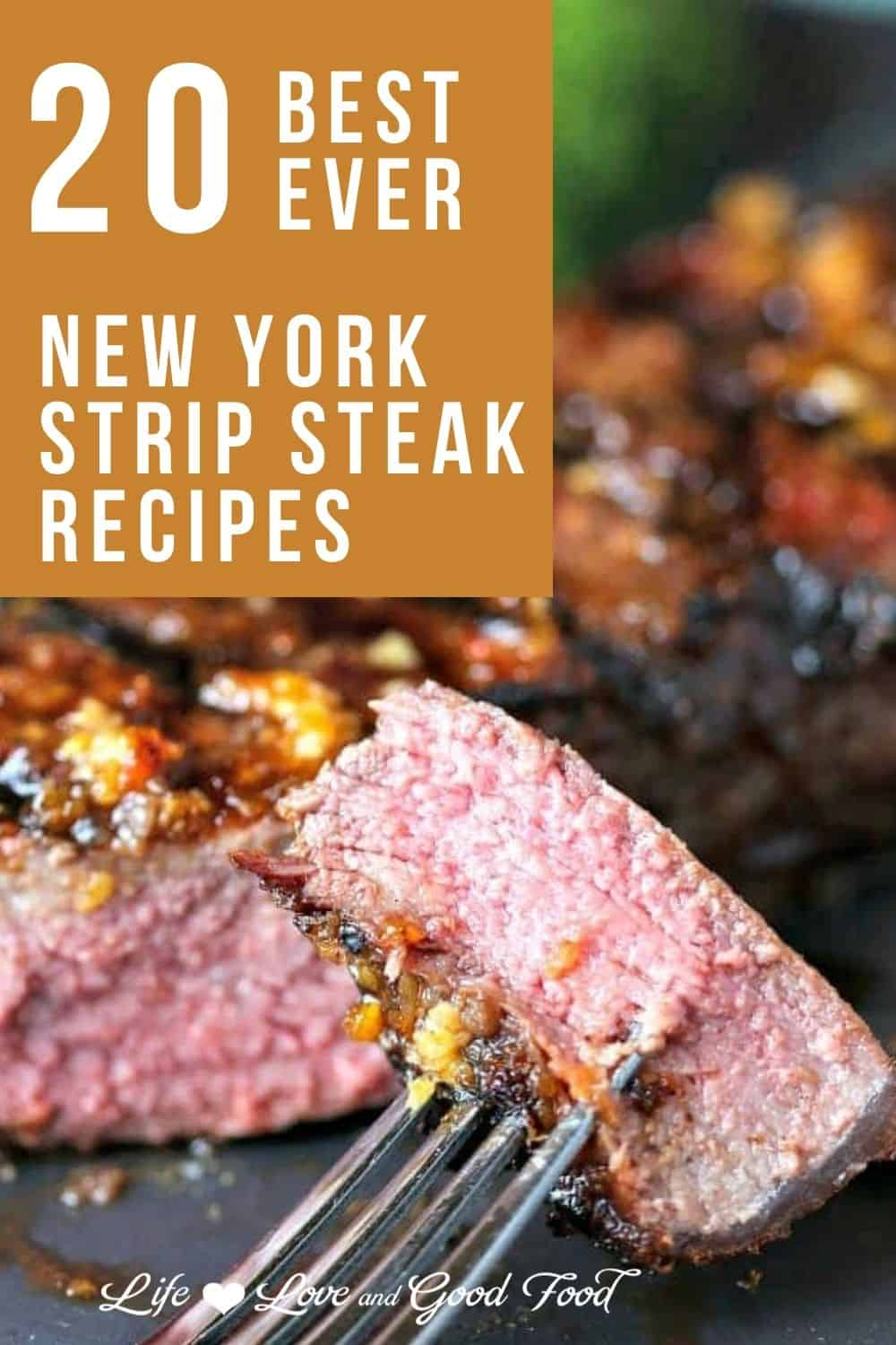 Looking for a good way to cook a New York strip steak? We have all the answers in this collection of the 20 BEST EVER New York Strip Steak Recipes. Learn all the secrets to cooking the perfect New York strip on the grill, on the stove, in the oven, and even in the air fryer!