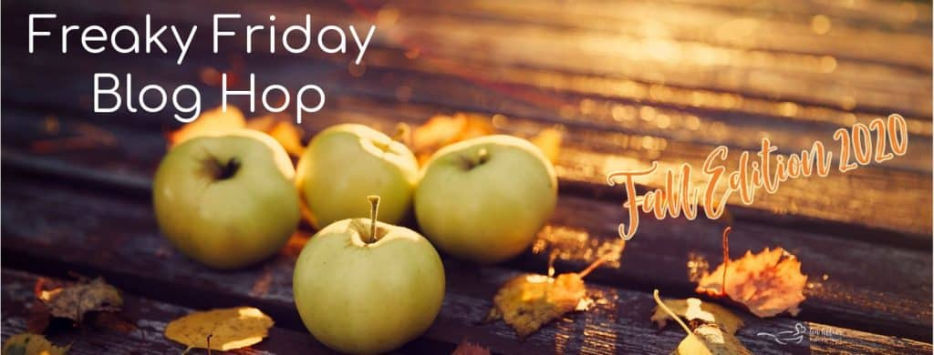Freaky Friday poster with apples on a wooden board