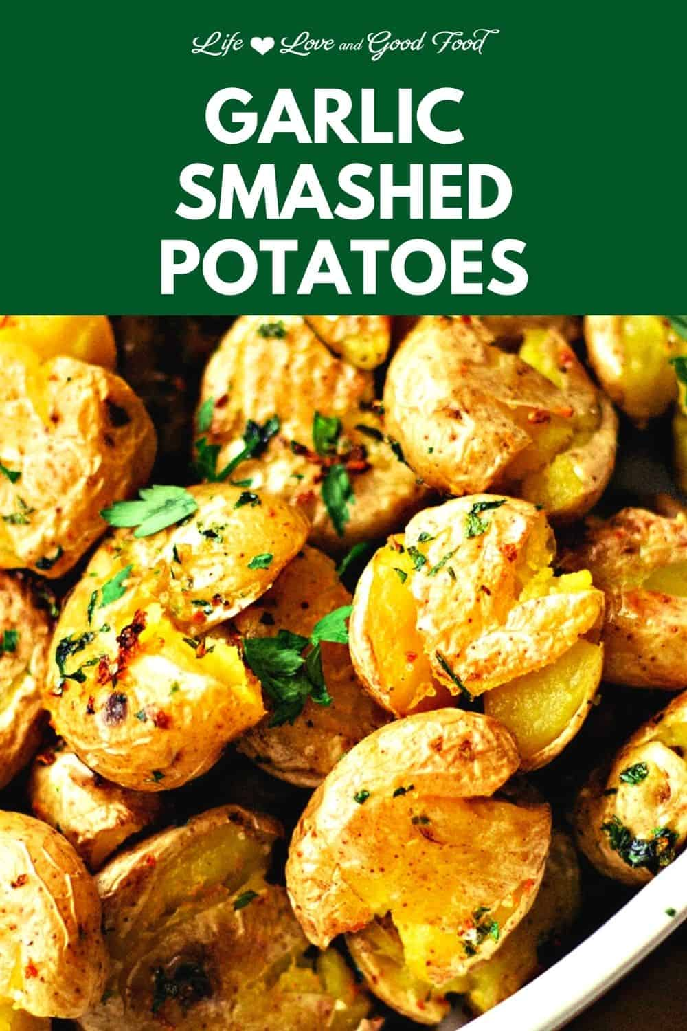 Extremely tender on the inside and crispy on the outside, these lemon garlic smashed potatoes make a delicious side dish for any meal. Start by boiling Yukon Gold potatoes until they are fork tender and then finish them in the oven. Smashed and seasoned with parsley, garlic, and freshly grated lemon zest, these potatoes are hands-down absolutely delicious and addictive.