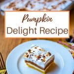 Pumpkin Delight in a glass dish on a table