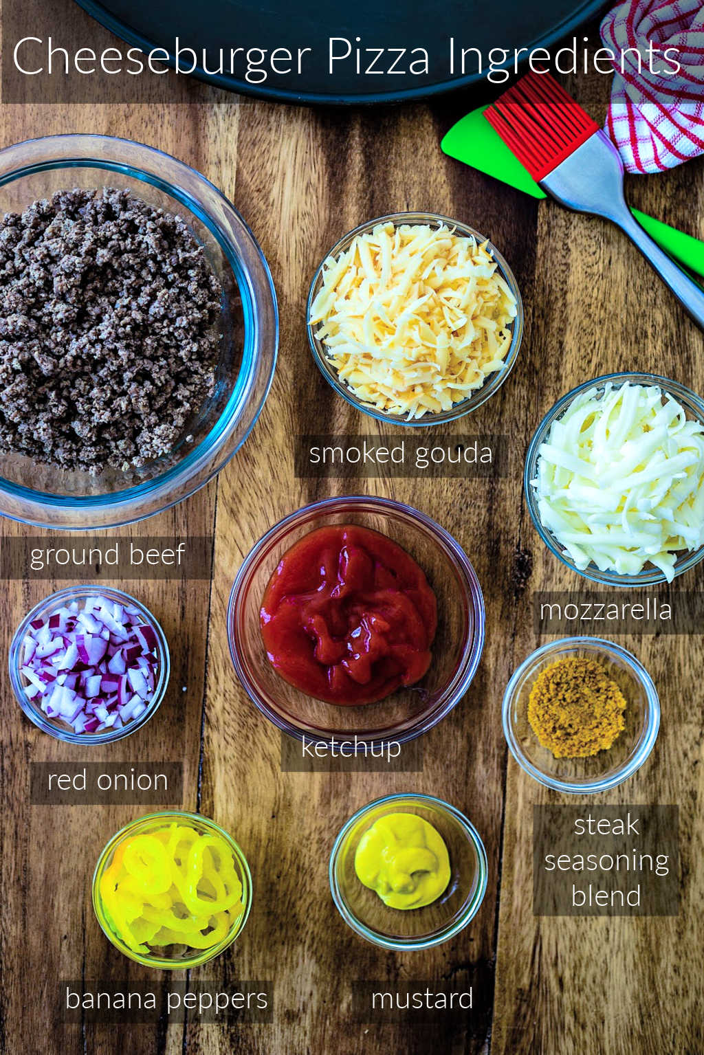 ingredients for cheeseburger pizza