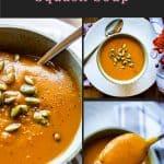 butternut squash soup collage