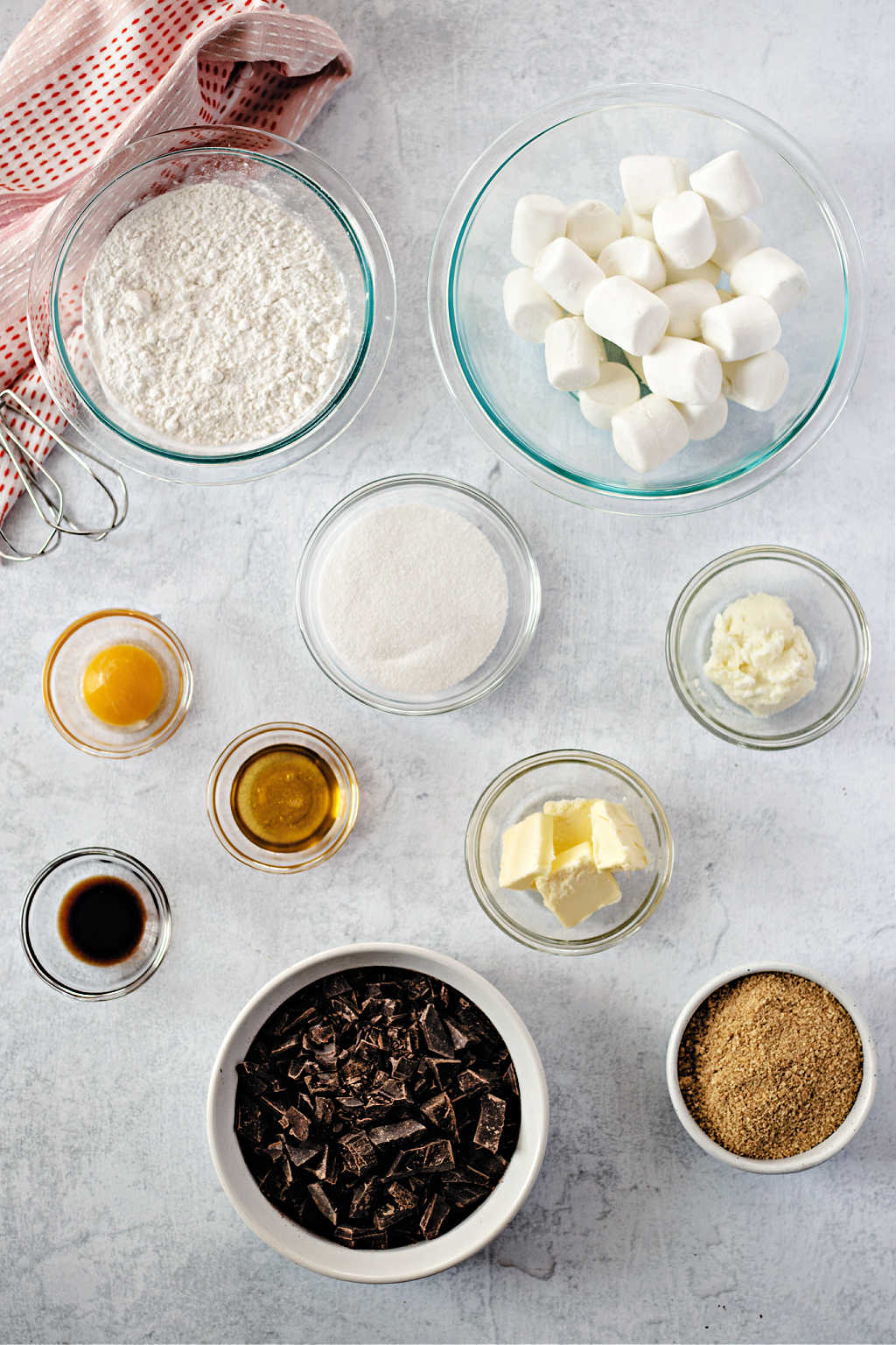 chocolate marshmallow cookie ingrediients