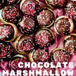 Chocolate Marshmallow Cookies in a pink heart-shaped box