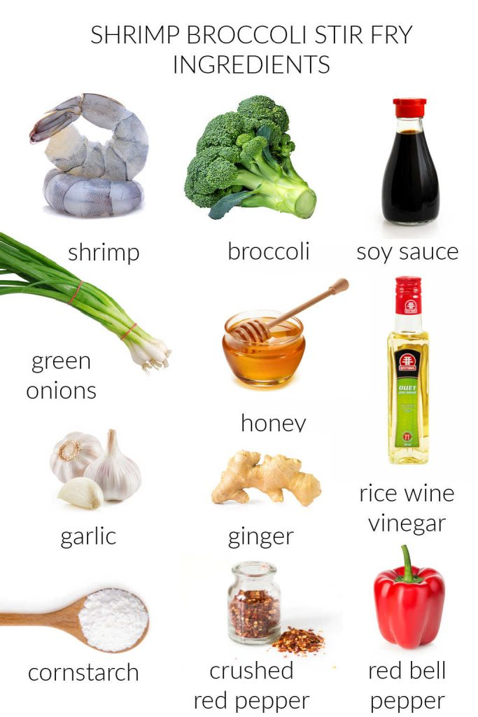 ingredients for shrimp broccoli stir fry