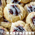 close up photo of Lemon Raspberry Thumbprint Cookies