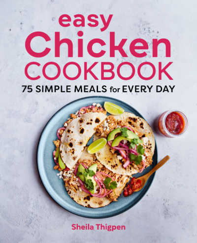 easy chicken cookbook cover image.